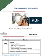 Administracion Financiera y El Siaf