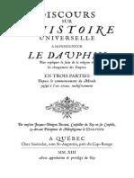 Bossuet - Discours Sur l'Histoire Universelle (1681)