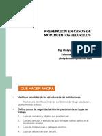 1.- Prevención en Casos de Movimientos Telúricos