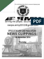 20 Nov 14 News Clippings