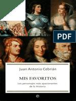 Favoritos, Mis - Juan Antonio Cebrian