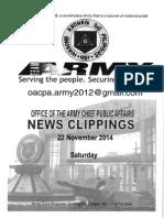22 Nov 14 Newsclippings