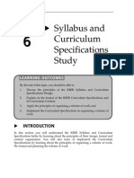 Topic 6 Syllabus and Curriculum Specifications Study