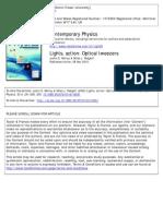 Light Action-Optical Tweezers