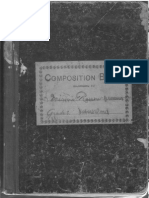 Third Grade Composition Book 1905-6