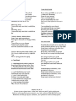 Worship Lyrics 22nd Nov