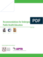 Recommendations for Undergraduate Public Health Education