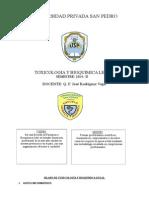 Silabus Toxicologia Técnología Médica