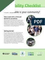 Walk Ability Checklist