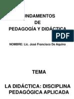 ladidcticadisciplinapedaggicaaplicada-120726120054-phpapp01