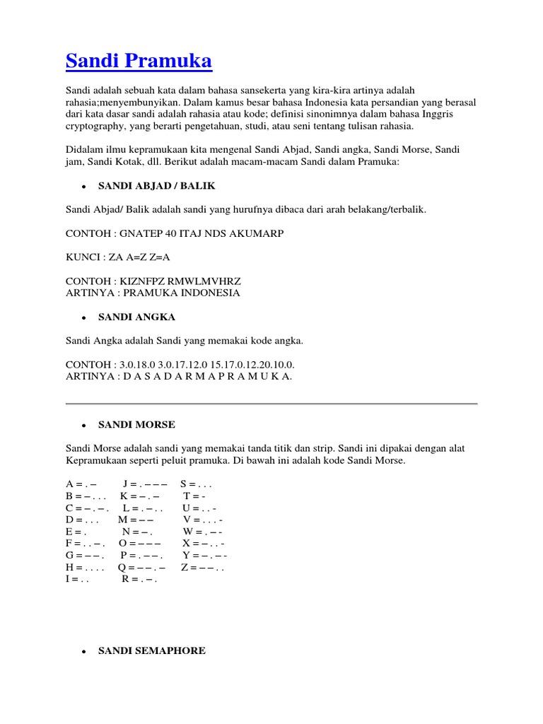 Contoh Soal Sandi Morse Helmi Kediris