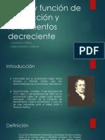 Teoría y Función de Producción y Rendimientos Decreciente