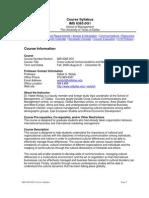UT Dallas Syllabus for ims6365.0g1.08f taught by Habte Woldu (wolduh)