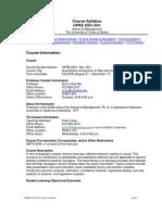 UT Dallas Syllabus for opre6301.med.08f taught by Shun-chen Niu (scniu)