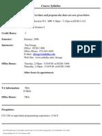UT Dallas Syllabus for cs1337.5u1.08u taught by Timothy Farage (tfarage)