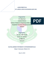 Assignment 06. ID-Ev1405036 Al Arafat Hossain