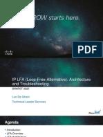 Cisco Live IP LFA Architecture and Troubleshooting