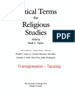 Transgression (Chapter) Critical Terms for Religious Studies