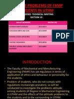 Presentation Progress Report T.W