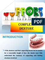 Support - Complete denture