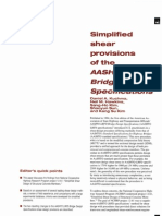 Simplified Shear Provisions of the AASHTO LRFD Bridge Design Specification