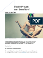 26 Scientifically Proven Superhuman Benefits of Meditation