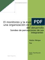Informe Percepciones Sobre El Monitoreo en Una ONG