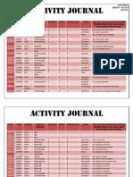 activity journal