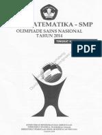 Soal Osn Matematika Smp 2014
