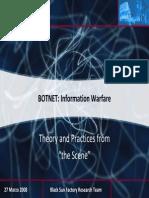 Botnet and Informational Warfare Print Final