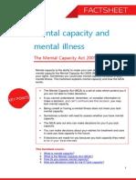 Mental Capacity and Mental Illness