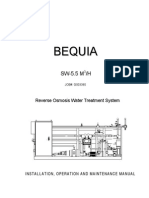 Bequia Reverse Osmosis Water Treatment System System Description