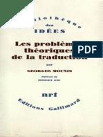 Les Problemes Theoriques de la traduction