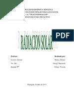 Analisis Radiación Solar