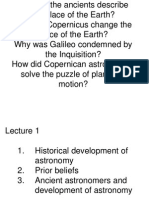 Lecture 1 History of Astronomy Tmw