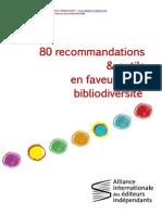 80 recommandations et outils en faveur de la bibliodiversité