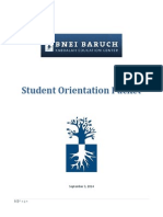 Student Orientation Packet B 09-03-14