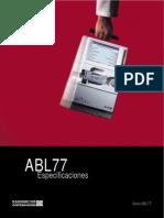 Analizador de Gases - Radiometer - ABL77 - Especificaciones