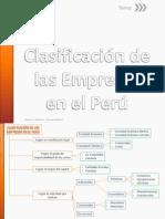 Clasificación de Las Empresas en El Perú.