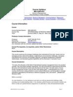 UT Dallas Syllabus for ims6360.0g1.08u taught by Kurt Siklar (kxs014600)