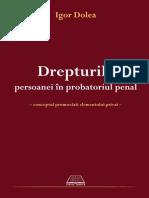 Drepturile persoanei in probatoriul penal