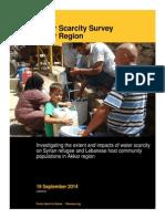 IRC Akkar Water Scarcity Survey