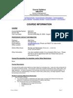 UT Dallas Syllabus for aim6370.0g1.08u taught by Matthew Polze (mmp062000)