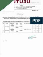 B.Tech III Yr I sem (R09) Supple June/July 2014 Exams CV results