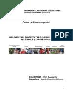 Cerere finantare POSDRU DMI 2.3