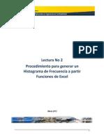 Lectura No 2 - Procedimiento Para Crear Un Histograma Usando Excel
