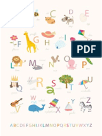 Alphabet Poster a4