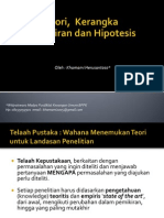 Teori, Kerangka Pemikiran Dan Hipotesis