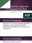 EL 180 Theoretical Framework