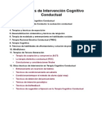 Técnicas de Intervención Cognitivo Conductual Resumen Del Libro